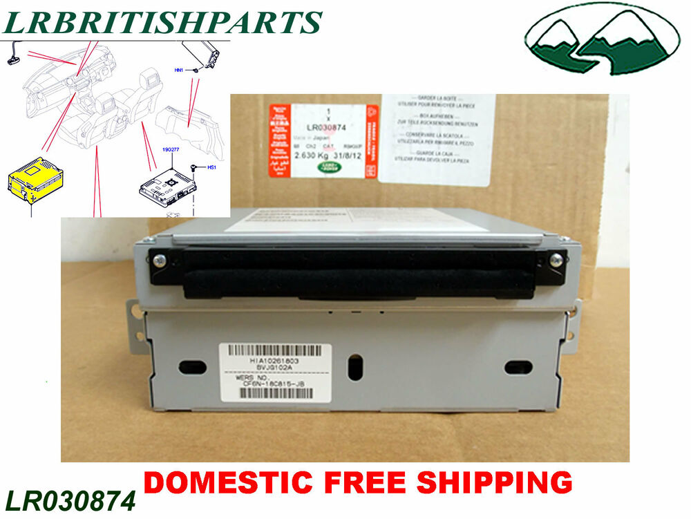 land rover cd player front panel lr4 range rover sport evoque oem new lr030874 ebay. Black Bedroom Furniture Sets. Home Design Ideas