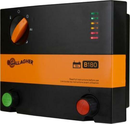 New Gallagher B180 Battery Powered Electric Fence Charger
