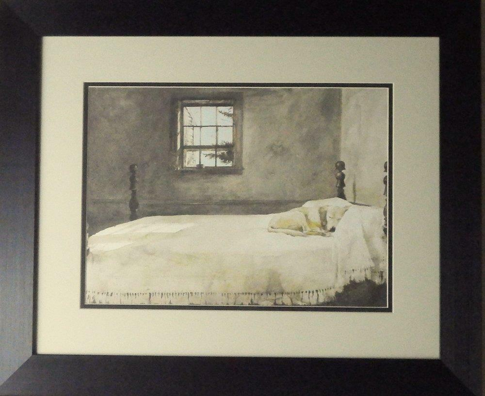 andrew wyeth master bedroom dog bed print framed 23 5 x 19 14379 | s l1000