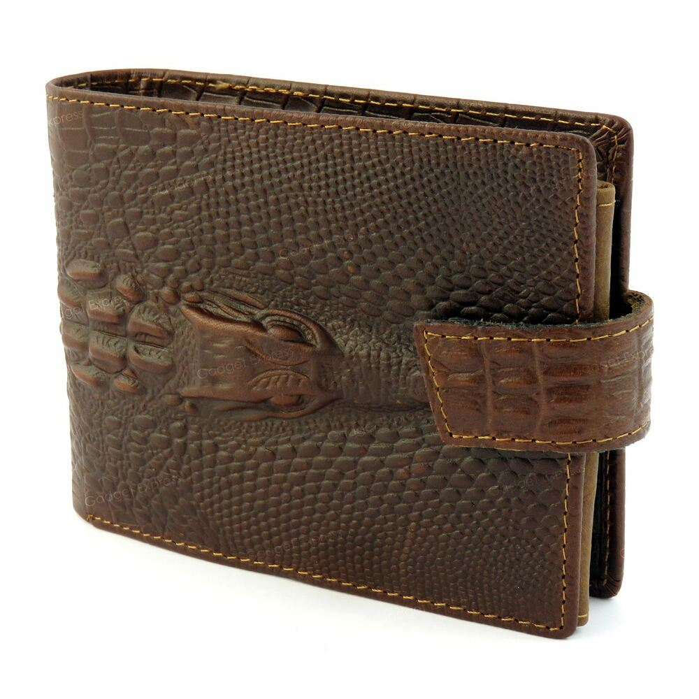 mens dragon luxury quality leather wallet credit card holder purse brown new uk 5055633355084