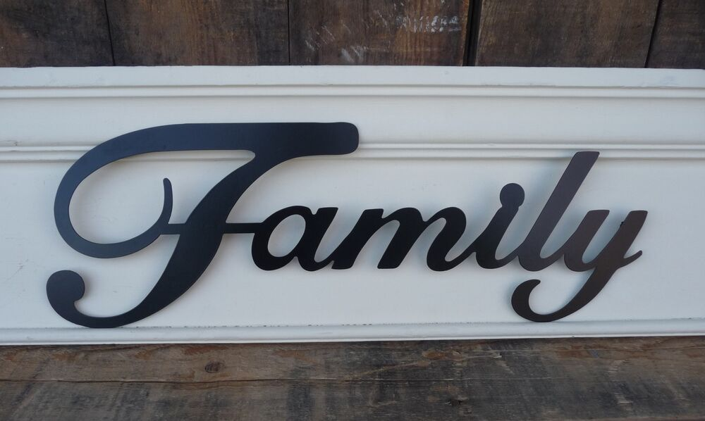 Metal word home decor family hope love laugh faith live for Word wall art