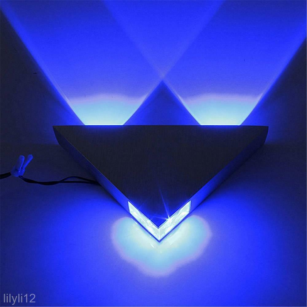 Wall Sconce Led Lighting: Modern 3W LED Triangle Wall Light Lamp Restroom Bedroom