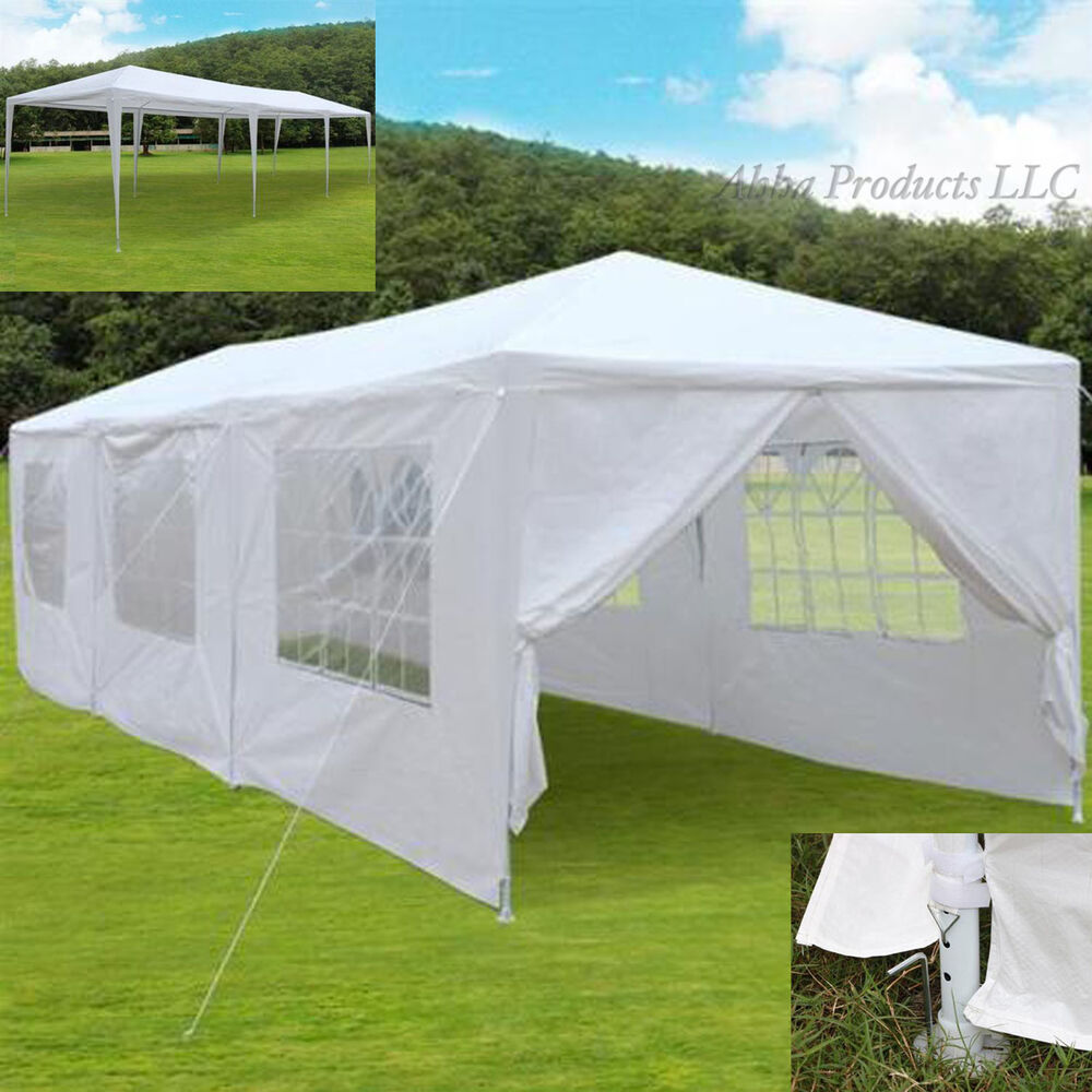 Large 30x10 Party Event Tent Canopy White Windows Gazebo