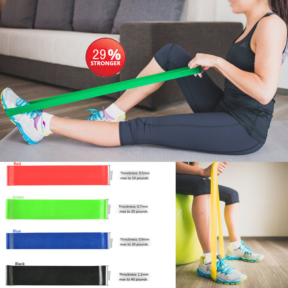3pc Exercise Resistance Loop Bands For Fitness Stretch