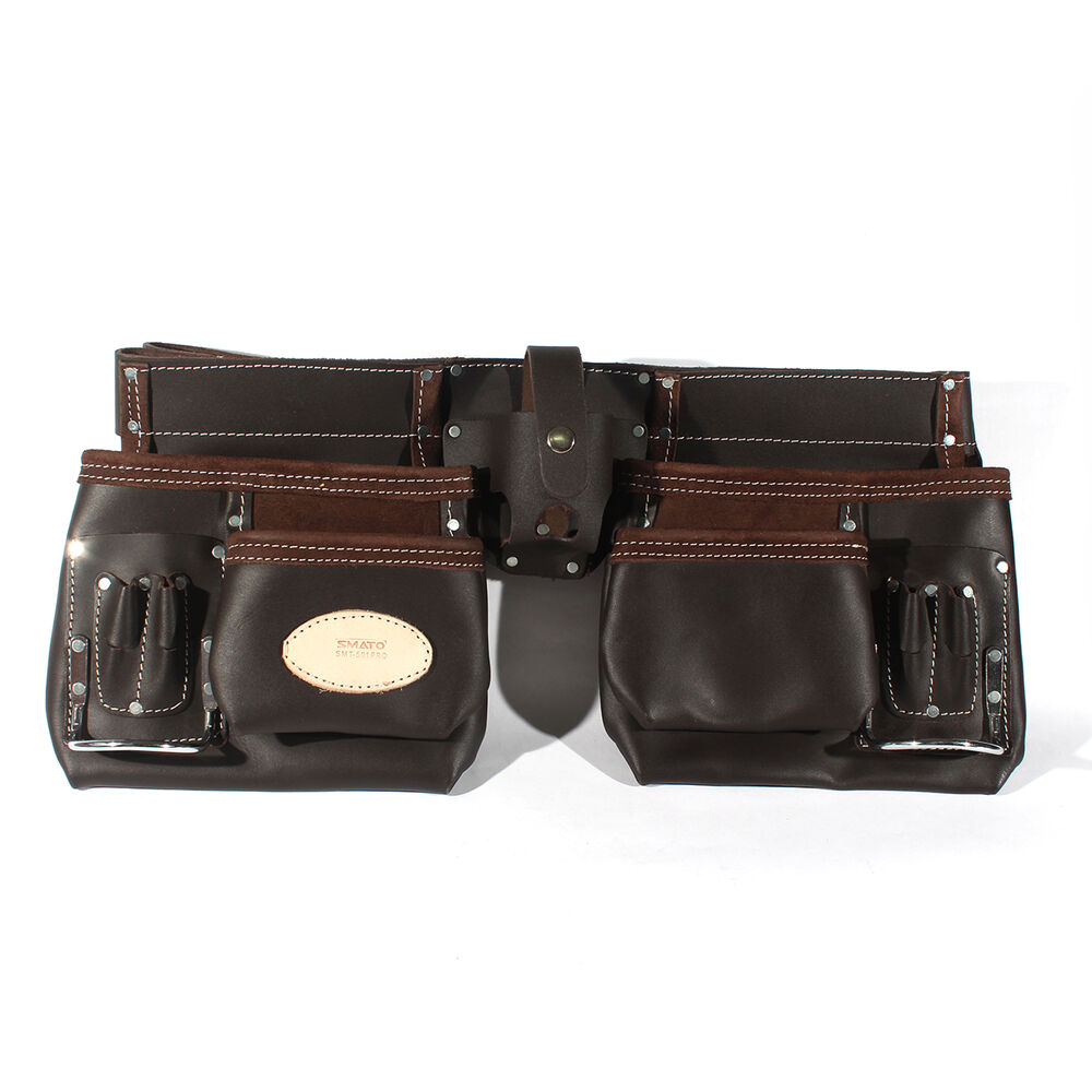 advanced belt type leather tool pouch electrician