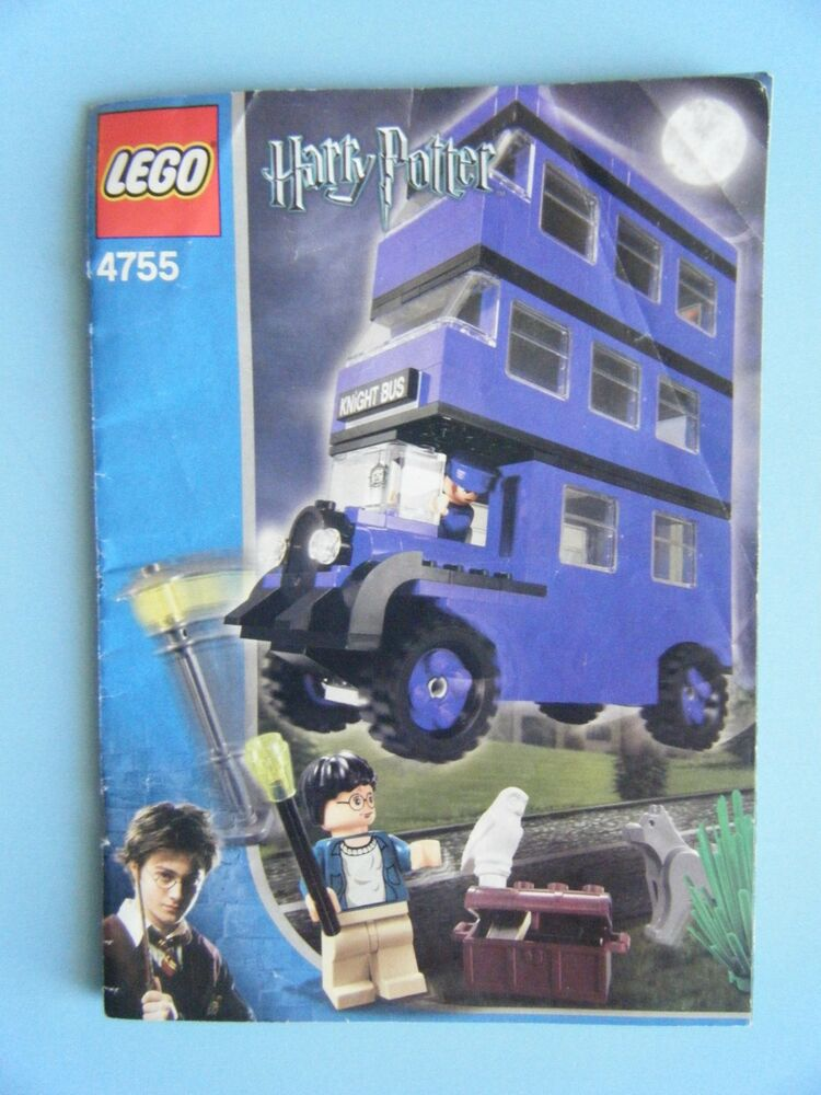 Lego Harry Potter Knight Bus 4755 Instruction Manual Only
