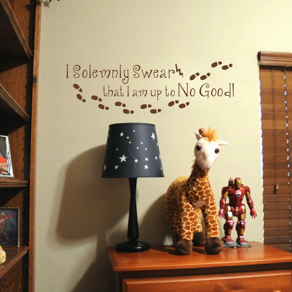 Motivation harry potter wall decal i solemnly swear quote