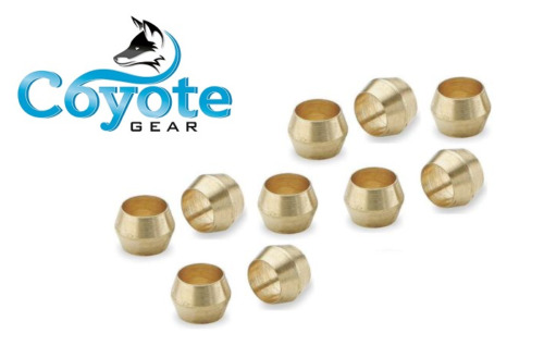Pack of quot tube ferrule brass compression sleeve ring