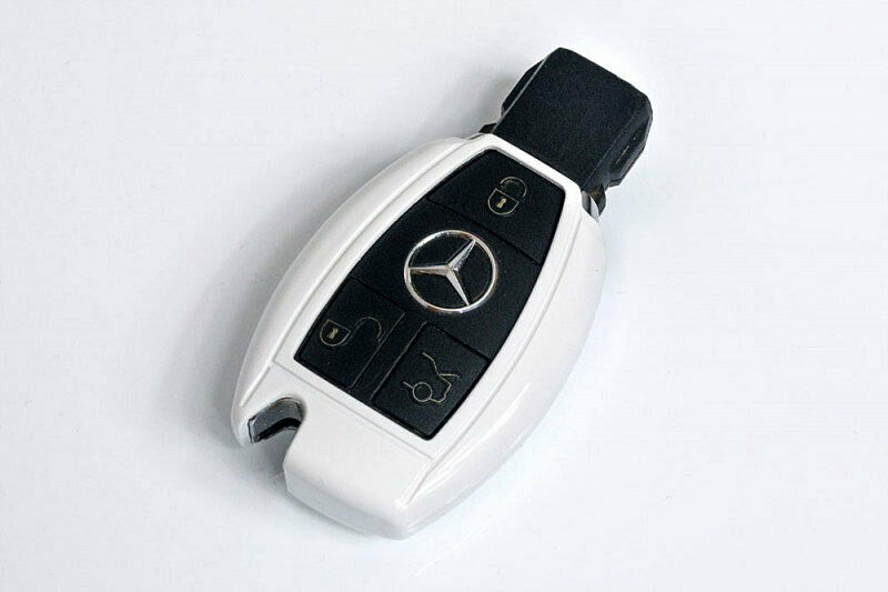 Mercedes benz white remote key cover case skin shell cap for Mercedes benz remote