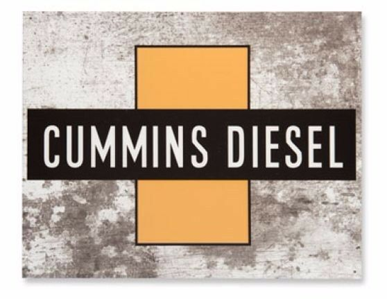 Vintage Replica Tin Metal Sign Dodge Cummins Cross Diesel