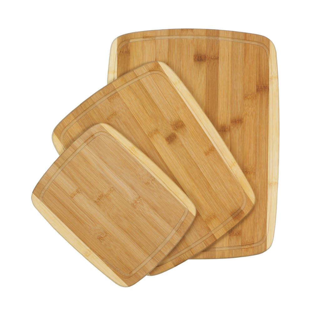 Cutting Board Block Bamboo Boards Kitchen Tools Butcher Wood Wooden Chopping Set Ebay