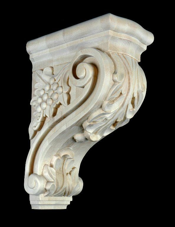 Quot maple wood bar corbel hand carved stain grade ebay