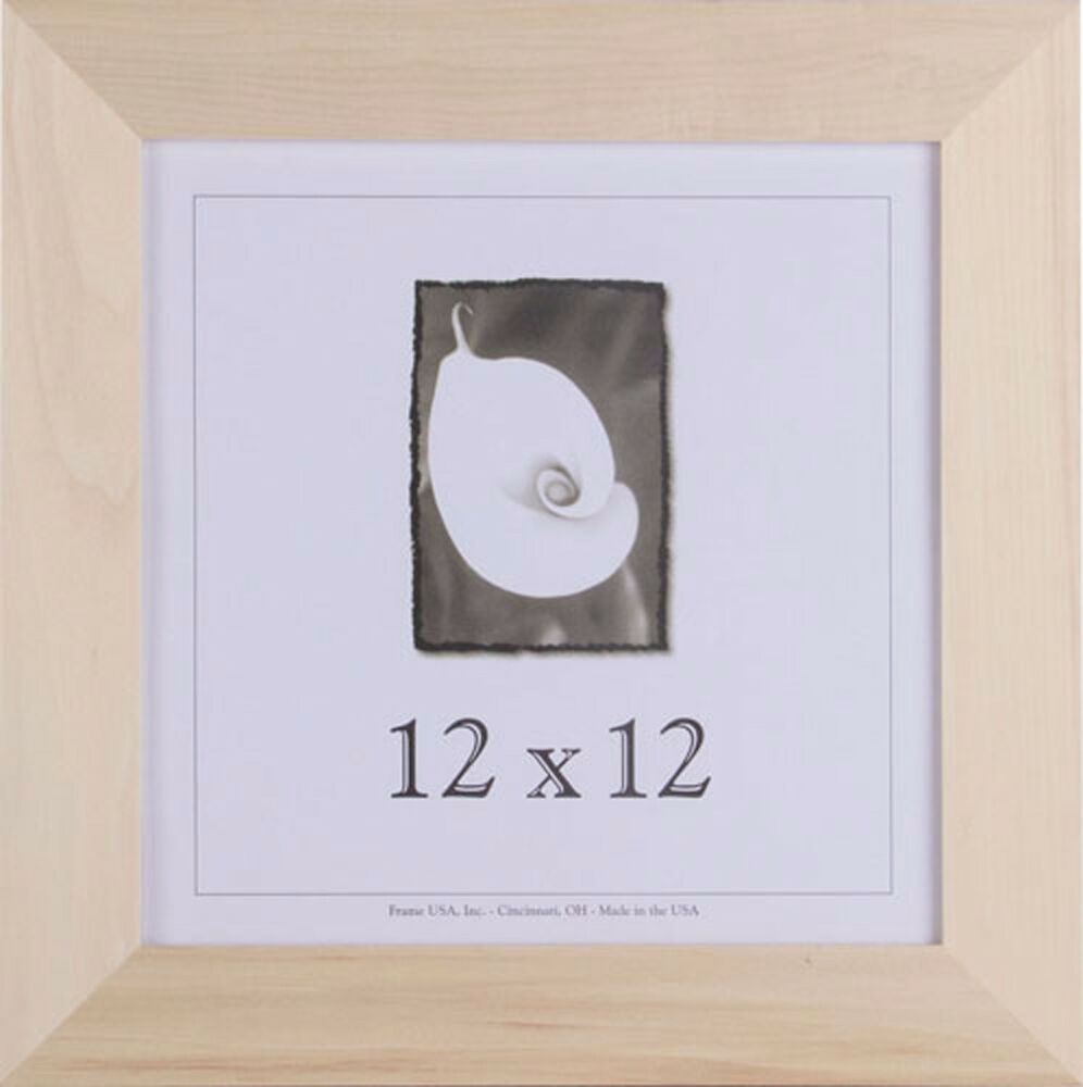 12x12 Unfinished Wood Frames - 1.5 inch Wide, DIY Picture Frame | eBay