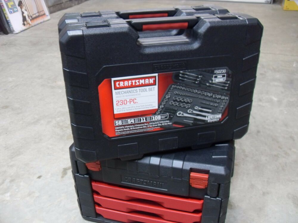 NEW CRAFTSMAN MOLDED PLASTIC TOOL CASE BOX TOOLS NOT INC