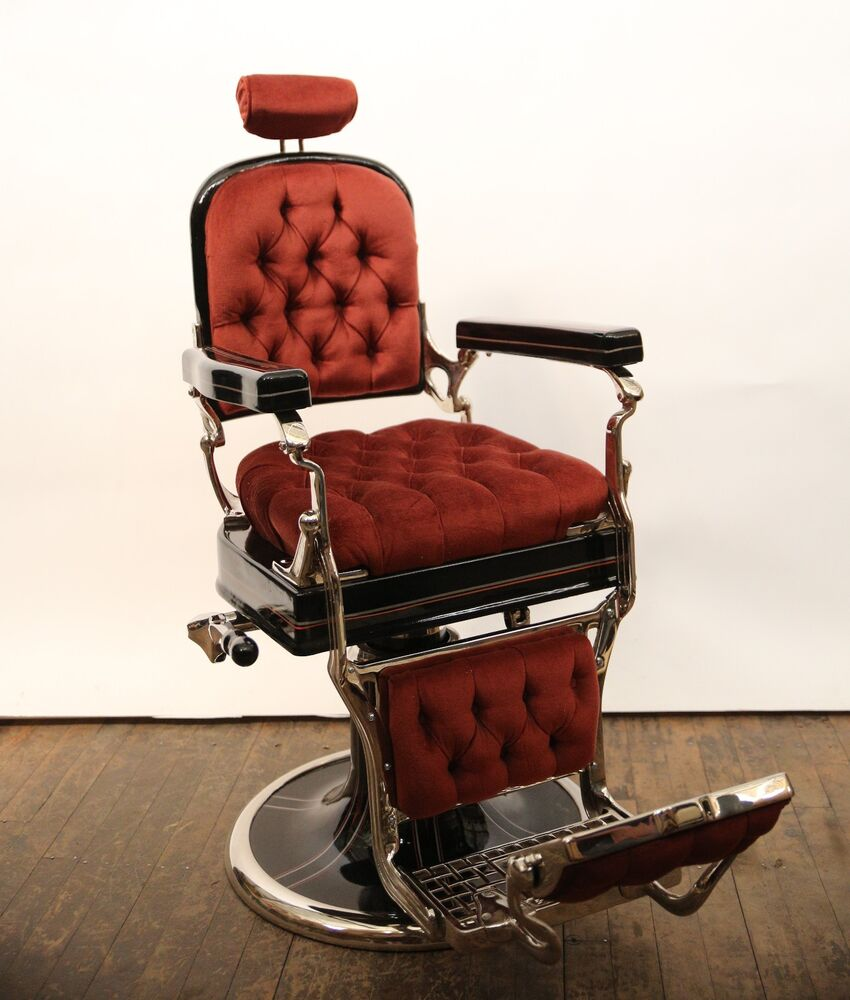 Vintage 1930's Koken Porcelain Antique Barber Chair Barber Shop- Restored - Koken Barber Chair EBay