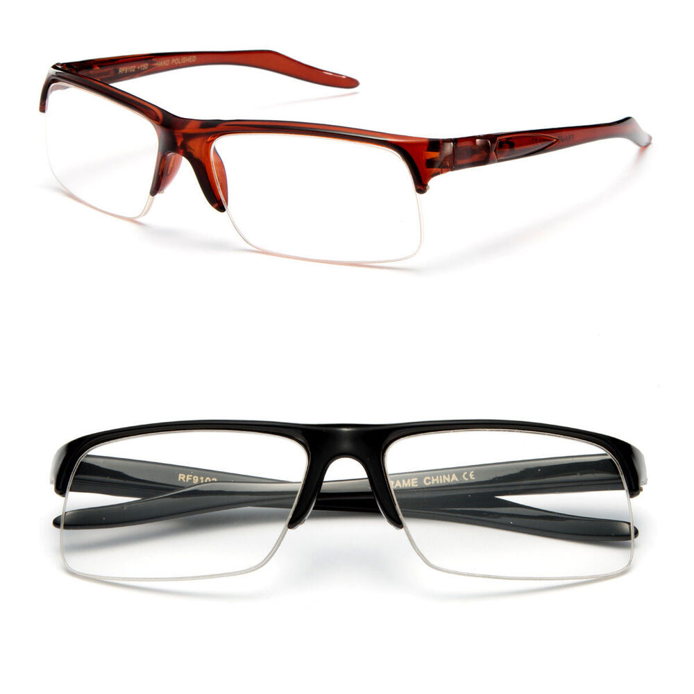 Classic Half Frame Semi Rimless Rectangular Reading ...