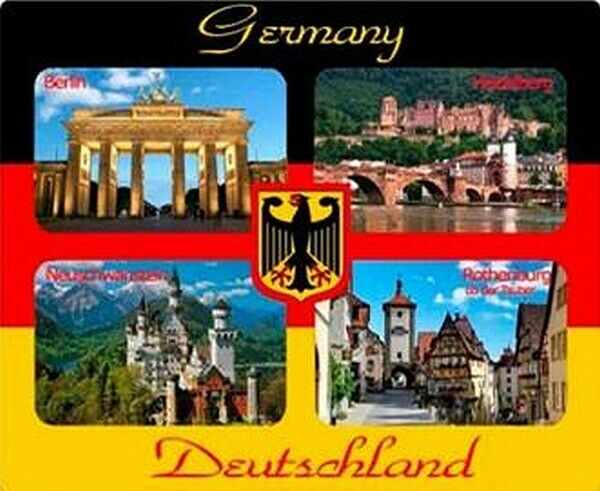 deutschland 3d holz magnet berlin heidelberg rothenburg neuschwanstein ebay. Black Bedroom Furniture Sets. Home Design Ideas