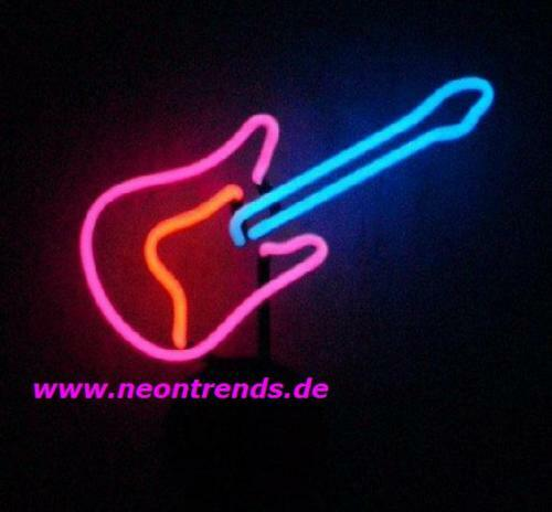 gitarre neonleuchte rock roll neon sign guitar signs neonleuchte gifts reklame ebay. Black Bedroom Furniture Sets. Home Design Ideas