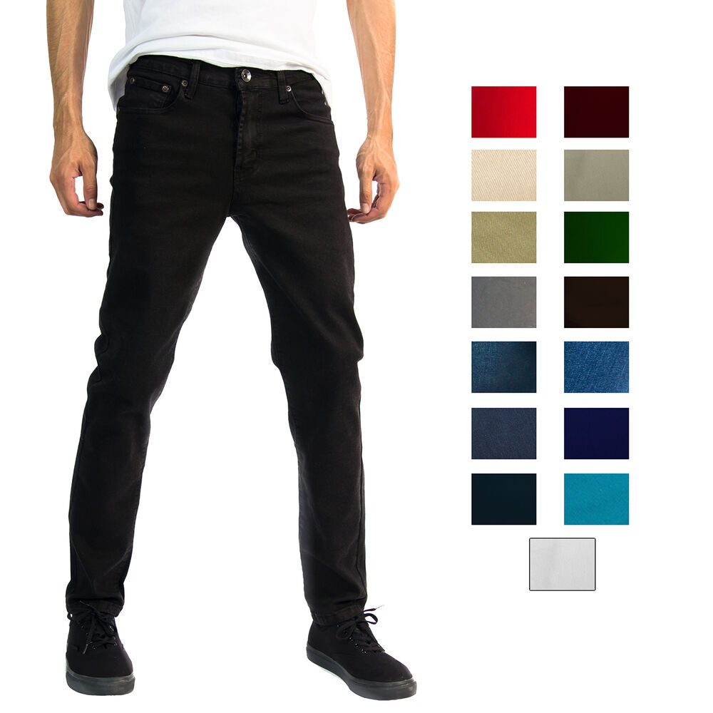 Alta Designer Fashion Mens Stretch Slim Straight Fit Skinny Denim Jeans Ebay