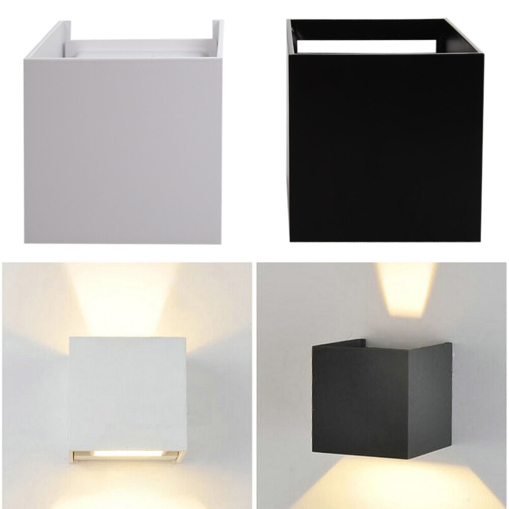 7w wall mount led light outdoor porch path lamp home bedroom wall fixture light ebay. Black Bedroom Furniture Sets. Home Design Ideas