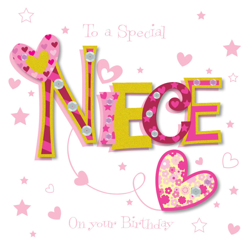 Special Niece Happy Birthday Greeting Card By Talking
