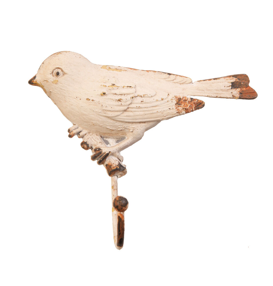 Vintage Bird Door Hook Wall Hanger Shabby Chic Antique