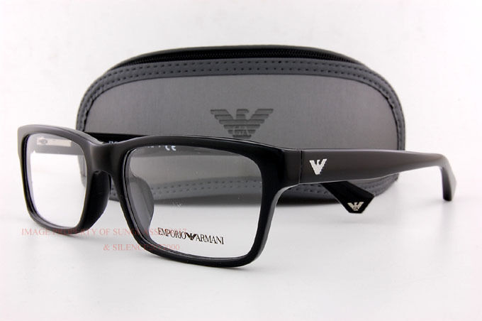 Black Frame Glasses For Guys : Brand New EMPORIO ARMANI Eyeglass Frames 3050 5017 BLACK ...