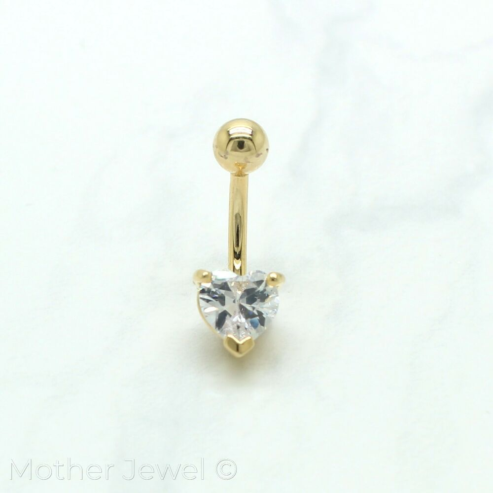 14k yellow gold triple plate 7mm heart simulated diamond. Black Bedroom Furniture Sets. Home Design Ideas