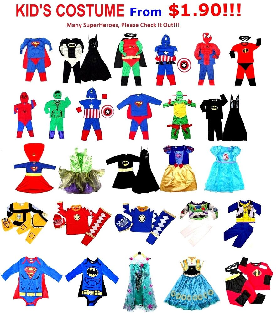 Super Hero Toys For Boys : New size kids costumes boys dress up party superhero