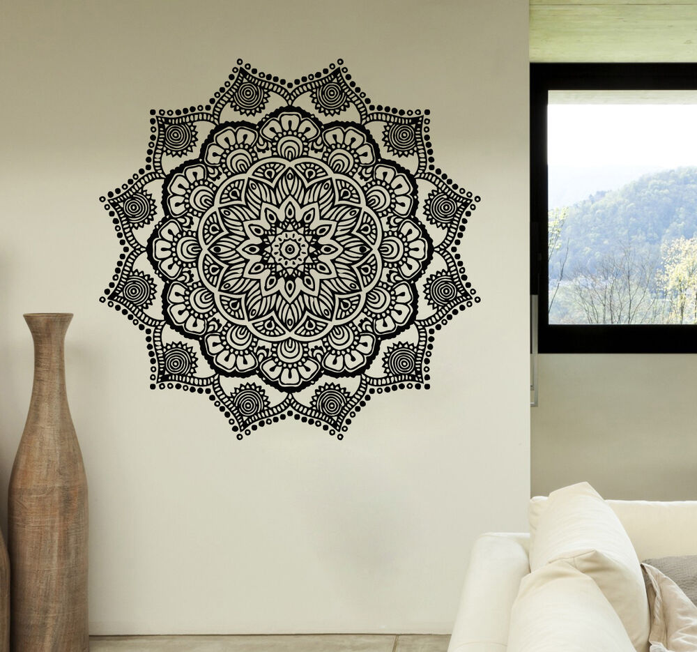 Wall Decorations Boho : Mandala wall decals stickers namaste vinyl bedroom decor