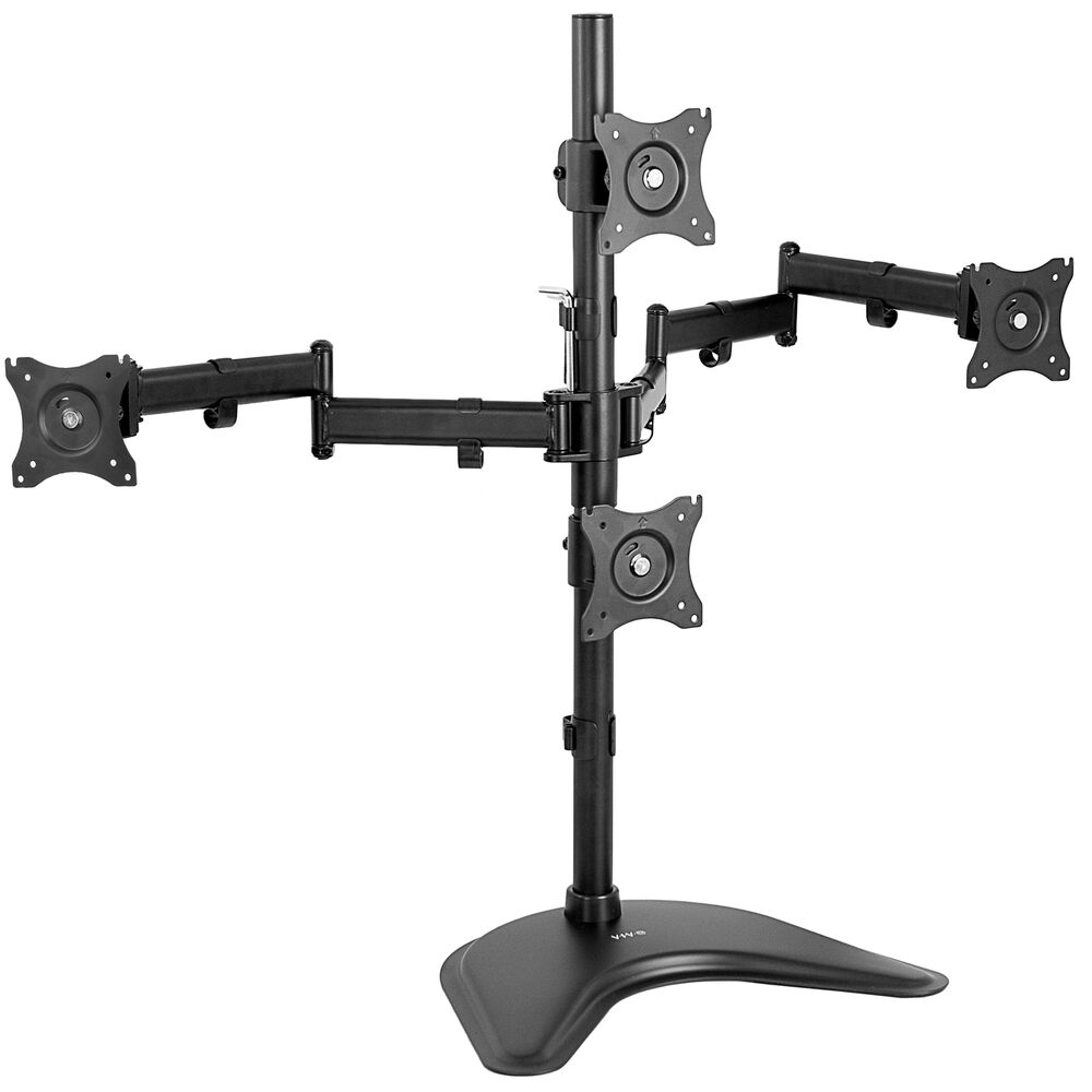 Vivo Quad Lcd Monitor Desk Stand Mount Free Standing 3 1