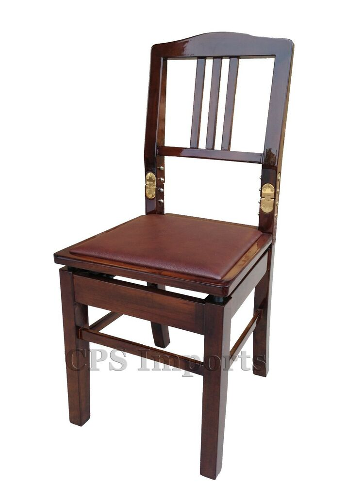 Walnut Adjustable Piano Chair Bench With Back Ebay
