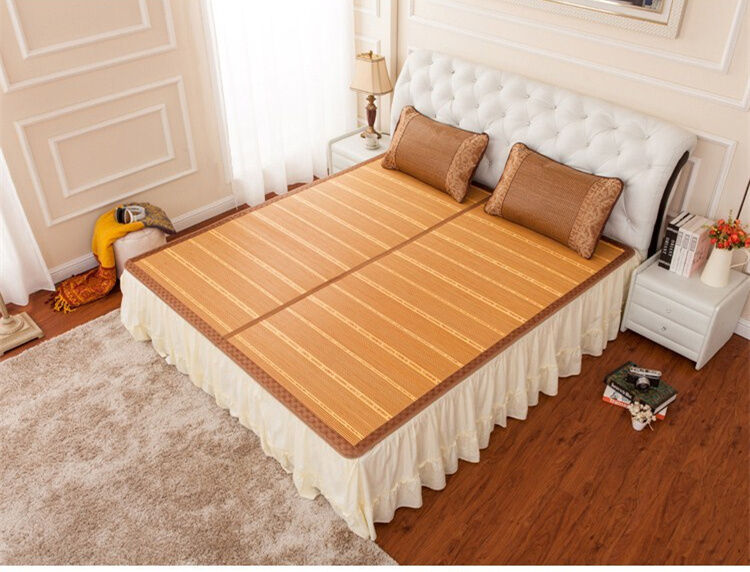 Chinese summer bamboo mat rattan bed cover cool full queen ...
