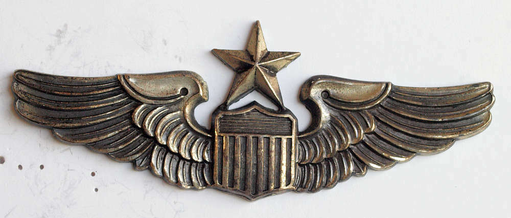 Ww2 Sterling Silver Army Air Force Senior Pilot 3 Inch
