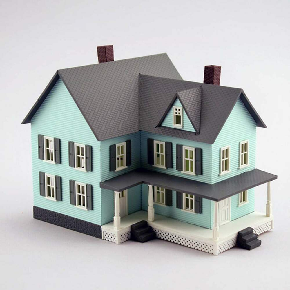 Model power n scale grandma 39 s new house built up building for Newhouse 1000