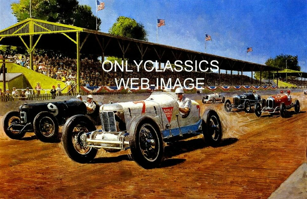 1934 indianapolis motor speedway poster print indy 500 for Indianapolis motor speedway clothing