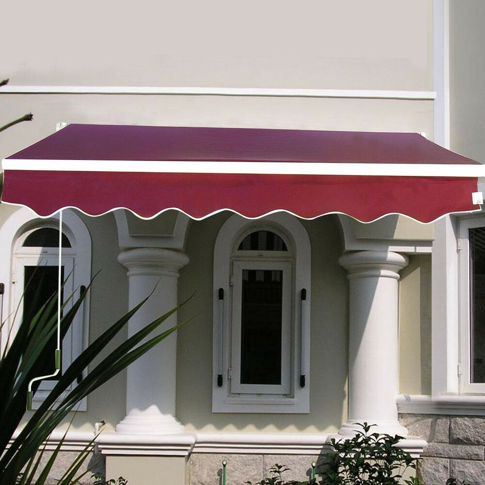 Outdoor Manual Patio 6 4 215 5 Retractable Deck Awning