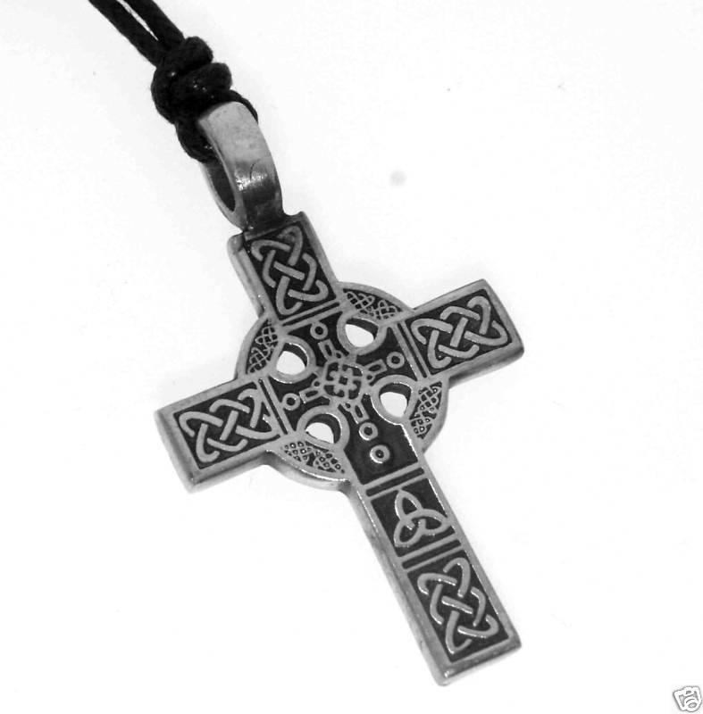 silver pewter celtic knot cross christian irish pendant ebay. Black Bedroom Furniture Sets. Home Design Ideas