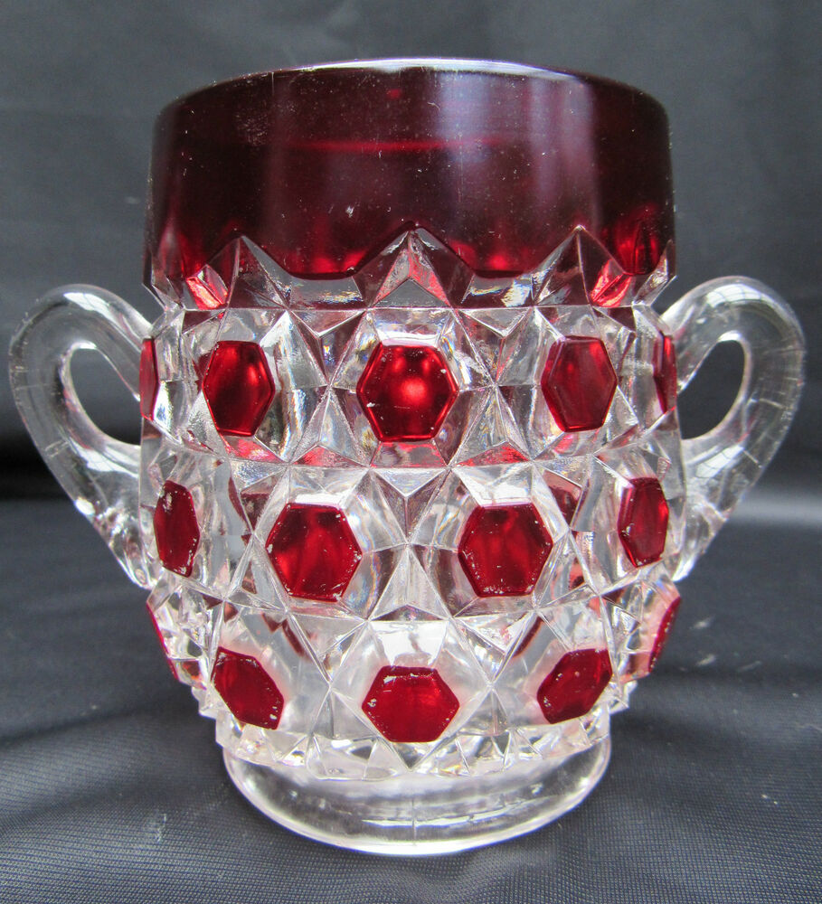 VINTAGE EAPG EARLY AMERICAN PATTERN GLASS BULLS-EYE AND