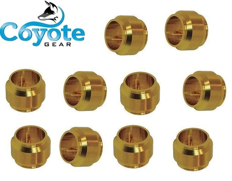 Pack of mm tube ferrule brass compression sleeve ring