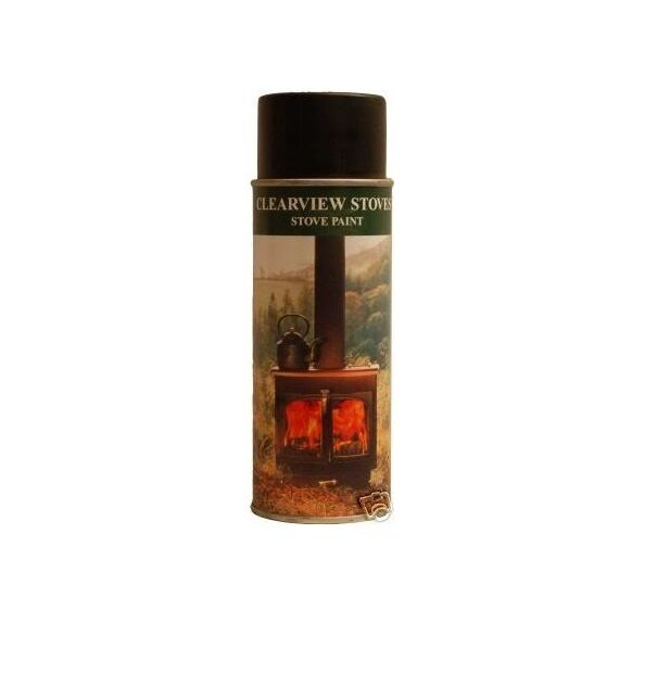 Clearview Stove Paint High Temp Woodburner Fireplace Aerosol Conifer Green Ebay