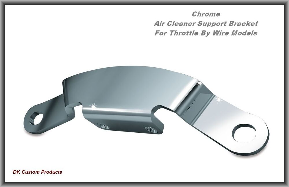 Chrome Air Cleaner Support Bracket Throttle-by-Wire Twin Cam   eBay