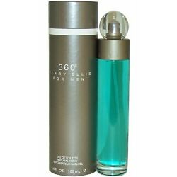 360 for Men by Perry Ellis Cologne 3.4 oz EDT New in Box