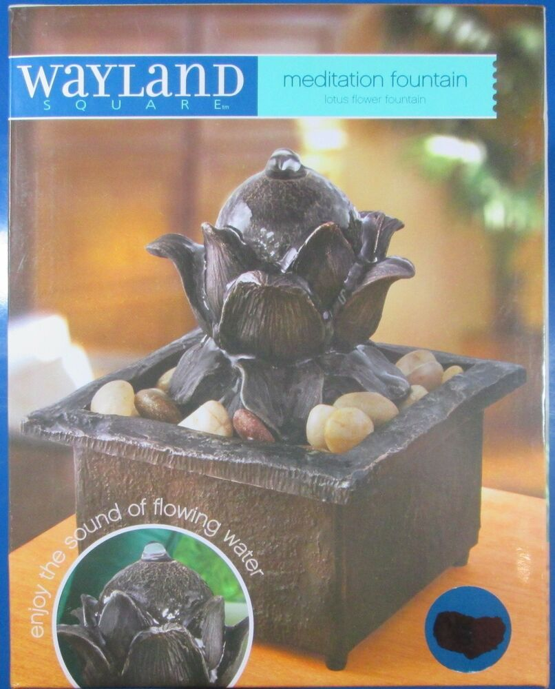 Wayland Square Lotus Flower Meditation Fountain 694202241257 Ebay