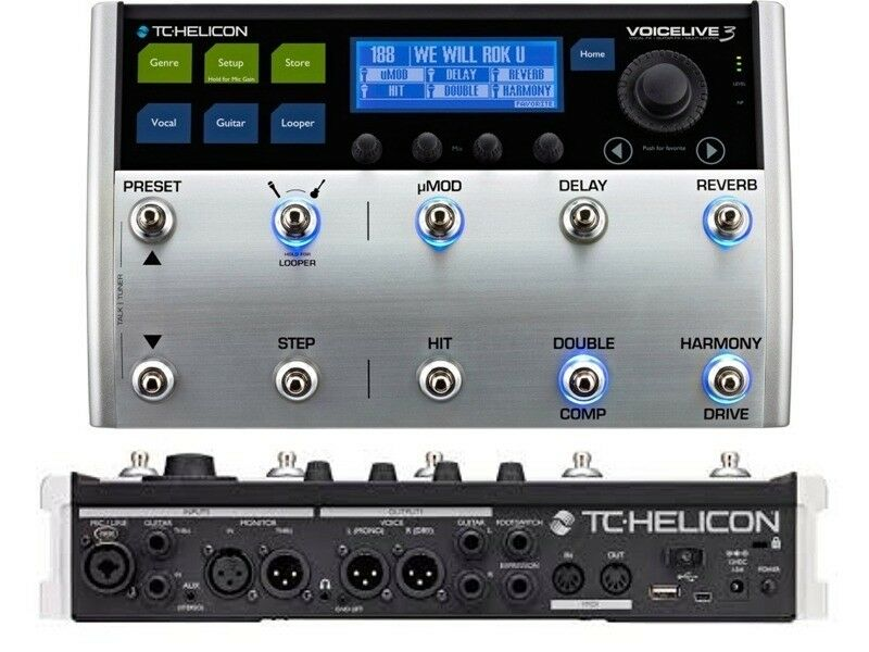 tc helicon voicelive 3 vocal guitar fx multi track looper effects processor ebay. Black Bedroom Furniture Sets. Home Design Ideas