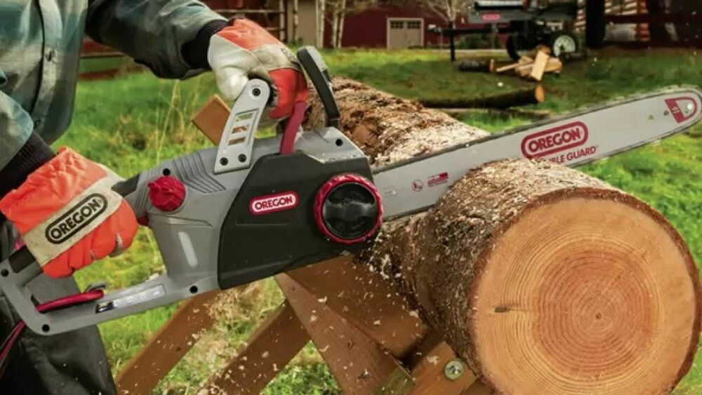 Oregon cs1500 electric chainsaw 18 inch bar and chain self oregon cs1500 electric chainsaw 18 inch bar and chain self sharpening chainsaw 692753956095 ebay greentooth Images