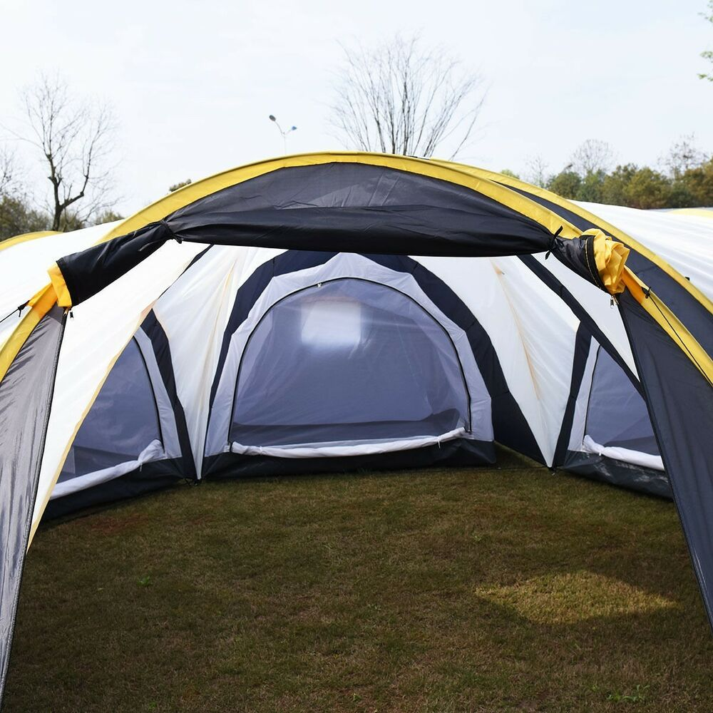 Waterproof 6 9 Person 3 1 Room Camping Tent Hiking Two