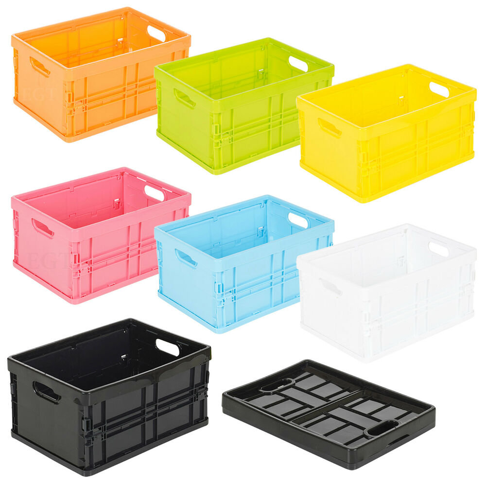 Small Plastic Storage Collapsible Boxes Organiser Sorter ...