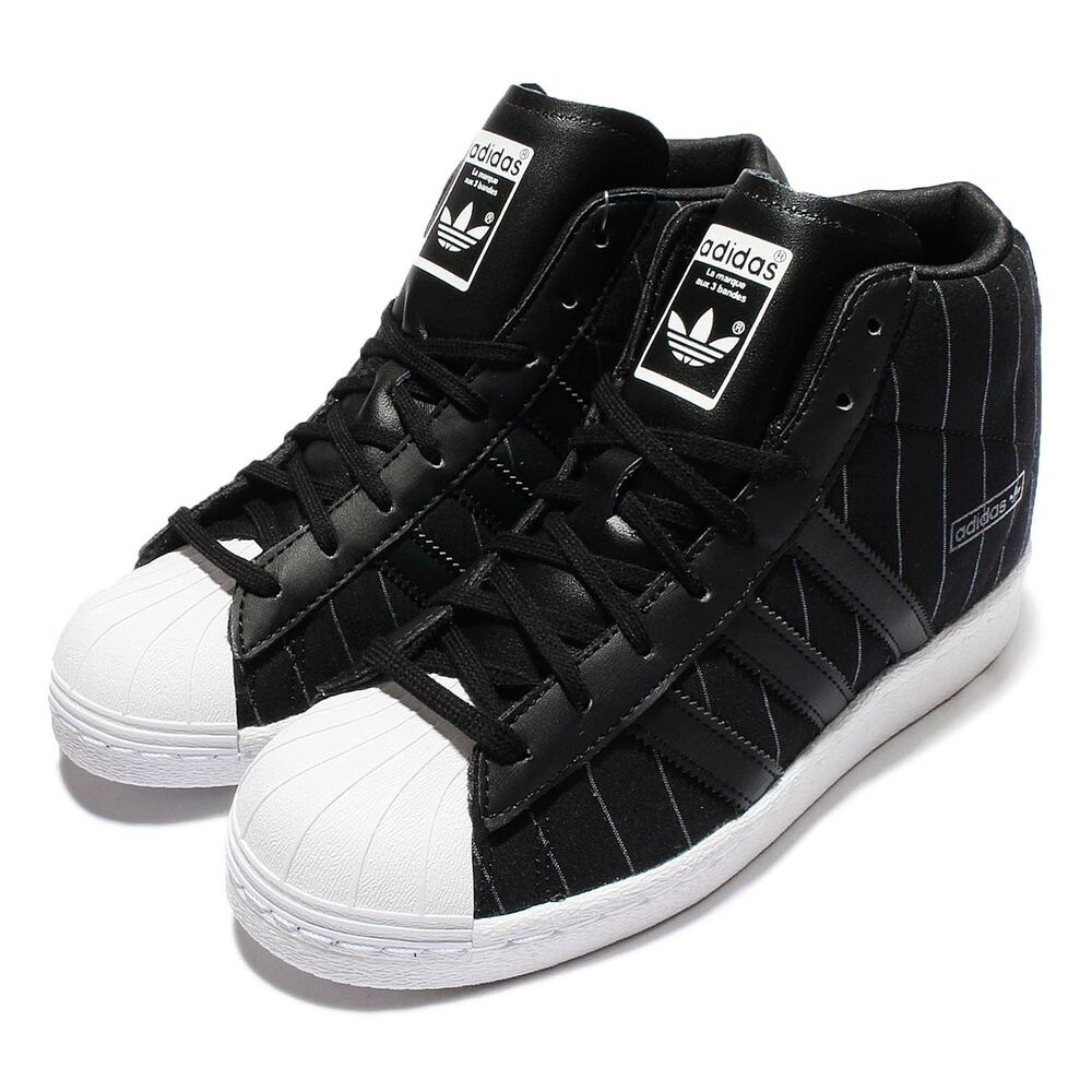 adidas Superstar Up W Black White Pinstriped Womens Shoes ...
