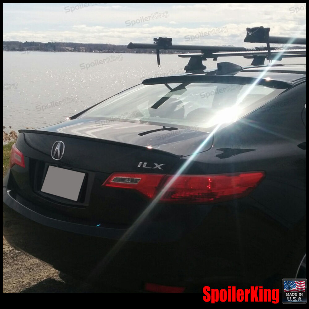 COMBO Rear Roof Wing & Trunk Lip Spoiler (Fits: Acura ILX